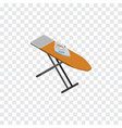 isolated ironing board isometric cloth iron vector image vector image