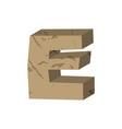 letter e stone font rock alphabet symbol stones vector image vector image