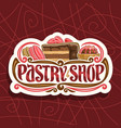 logo for pastry shop vector image vector image