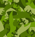 Military pattern dinosaur Army texture of vector image