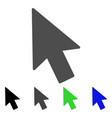 mouse cursor flat icon vector image vector image