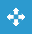 move icon white on the blue background vector image