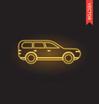 Neon Car Icon vector image vector image