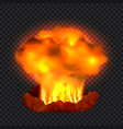 nuclear explosion concept background realistic vector image vector image