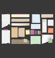 paper notes torn page memo on clips sticky notes vector image