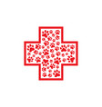 pets first aid veterinarian red cross vector image vector image