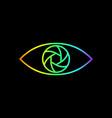 photography logo rainbow gradient eye line art vector image vector image