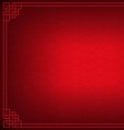 red chinese fan abstract with black background vector image vector image