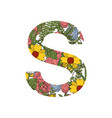 s font letter vector image vector image