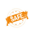 safe deal stamp rubber ink sign or badge icon vector image