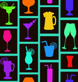 Seamless pattern of cocktails and drinks vector image