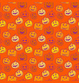 seamless pattern orange background with halloween vector image vector image
