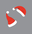 set of santa hats in vector image vector image