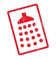 Shower Icon Rubber Stamp vector image
