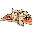 Sly Resting Cat vector image