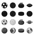 sport and ball symbol set vector image vector image