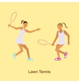 Sport people activities icon Lawn Tennis i vector image vector image