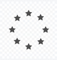 stars in circle form icon isolated on transparent vector image