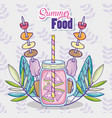 summer juice and food vector image