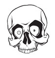 surprised cartoon skull vector image vector image