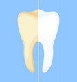 teeth whitening concept vector image