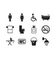 toilets symbols man and woman toileting washing vector image