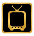 tv button on white vector image vector image