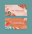 twitter template with shopping design vector image vector image