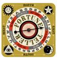 vintage mystical fortune teller spin game vector image
