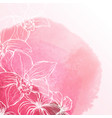 watercolor background with orchid flowers vector image