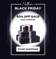 web banner black friday sale up to 50 percent vector image vector image