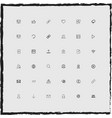 web simple linear icons set vector image vector image