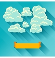 Abstract background card with sky and clouds vector image