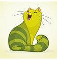 a green and fat singing ca vector image