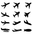 passenger planes and other airplane icon vector image