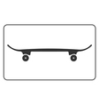 Skateboard icon isolated on white background vector image