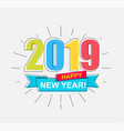 2019 happy new year card vector image vector image