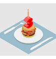3 years birthday celebratory burger Number three vector image vector image