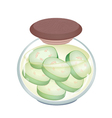 A Jar of Delicious Pikled Wax Gourd vector image vector image