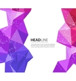 Abstract faceted polygonal triangle modern vector image