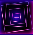 abstract neon squares background vector image vector image