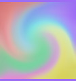 abstract of rainbow color in swirl background vector image vector image