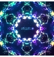 Abstract shining fractal electric background vector image vector image