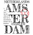 amsterdam athletic sport typography t-shirt vector image vector image