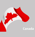 background with canada wavy flag vector image vector image