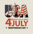 banner on theme us independence day vector image vector image