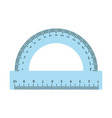 blue protractor ruler isolated on white background vector image vector image