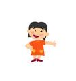 cartoon character asian girl showing vector image vector image