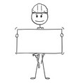cartoon of workman or technician holding empty vector image vector image