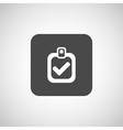 checkmark icon test form mark tick check vector image vector image